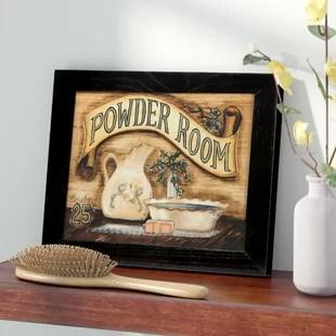 wall art for powder room wayfair