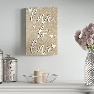 love canvas art wayfair