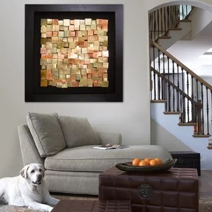 framed artwork for living room decorating french country style copper art wayfair graphic wall