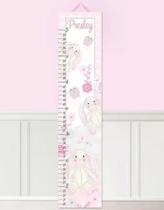 Bunny rabbits personalized growth chart also charts you  ll love wayfair rh