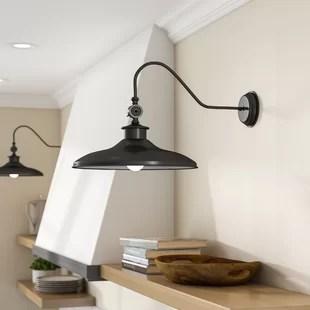 kitchen wall lights ash cabinets you ll love wayfair spartansburg 1 light barn