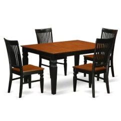 Rubberwood Butterfly Table With 4 Chairs Metal Lawn Old Fashioned Leaf Dining Sets Birch Lane Quickview