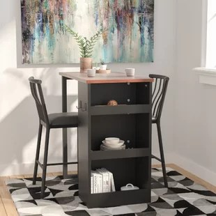 small pub table and chairs herman miler chair tables bistro sets you ll love wayfair francis 3 piece counter height set