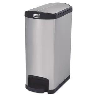13 gallon kitchen trash can knife storage step on wayfair slim jim container