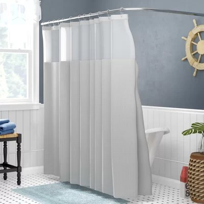 Gray Amp Silver Shower Curtains Youll Love Wayfair