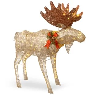 Lighted Outdoor Deer For Christmas Decorations