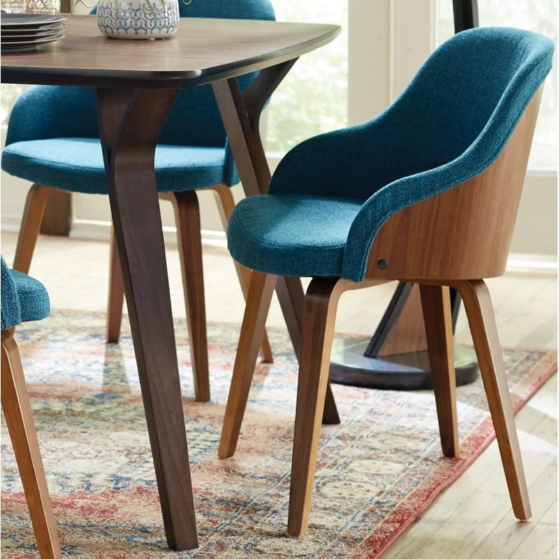 mid century dining chairs cheap salon george oliver brighton modern upholstered chair reviews wayfair