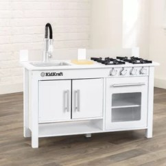 Kitchen Work Station Mittens Workstation Wayfair Ca Little Cook S Set
