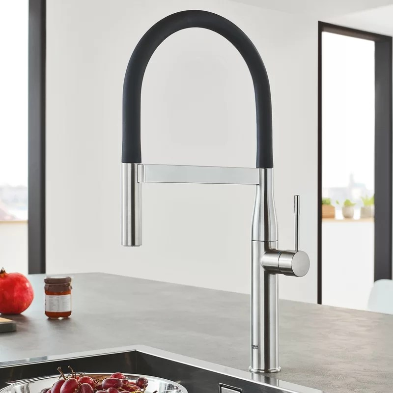 professional kitchen faucet modern pendant lights grohe essence single handle with silkmove reviews 30295000