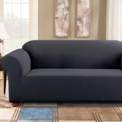 Two Cushion Sofa Slipcover Furniture Pics Hd Sure Fit Simple Stretch Subway Box Reviews Wayfair
