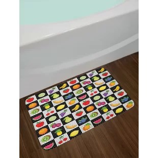 fruit decor for kitchen corner sink cabinet wayfair fruits and bath rug
