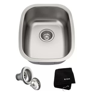 kitchen sink and cabinet combo napa style island wayfair combos 18 x 15 undermount with noisedefend soundproofing