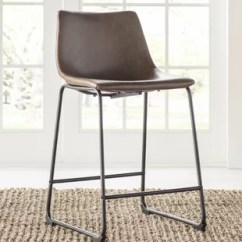 High Bar Stool Chairs Red Leather Recliner End Stools Wayfair Liara 24 Set Of 2