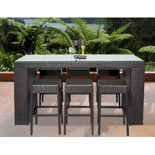 outdoor bar table and chairs office recliner chair india 3 piece set wayfair napa 7