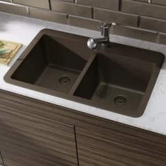 Brown Kitchen Sink Antique Brass Hardware Granite Sinks You Ll Love Wayfair Ca Save