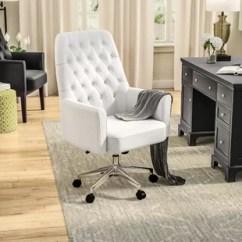 Tufted Desk Chair Ergonomic Set Up On Wheels Wayfair Quickview