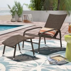 Outdoor Chair And Ottoman Plastic Pool Chaise Lounge Chairs Wayfair Harmony With