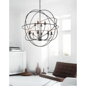 Bird Cage 12 Light Candle Style Chandelier
