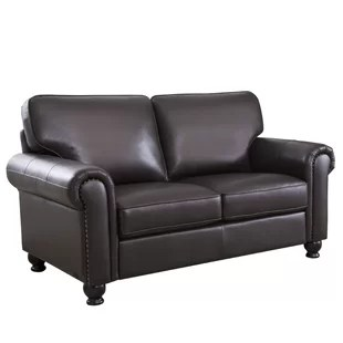 leather couch and chair gilbert ikea furniture you ll love wayfair coggins loveseat