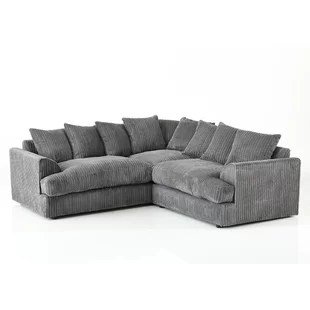 large dark grey corner sofa tuscany sectional sofas beds wayfair co uk quickview 0 apr financing black
