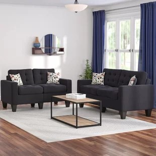 2 piece living room furniture rooms with rugs on carpet sets you ll love wayfair ca amia set