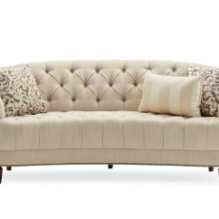 Curved Tufted Sofa Bensen Sleeper Darby Home Co Frederic And Reviews