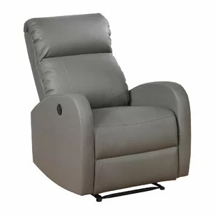leather recliner chair golden inc real wayfair quickview