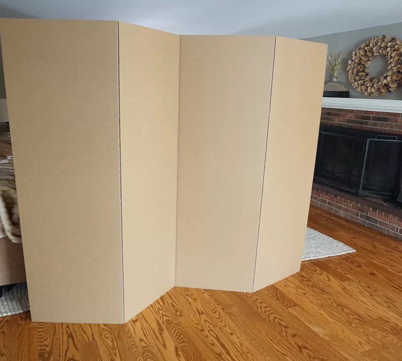 Symple Stuff 72 x 72 Privacy Cardboard 4 Panel Room