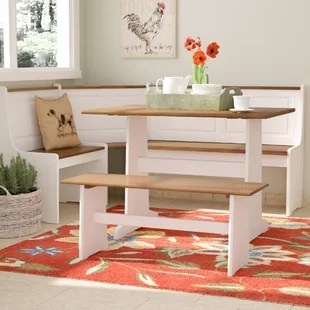kitchen tables sets garden window dining room you ll love birtie 3 piece breakfast nook set
