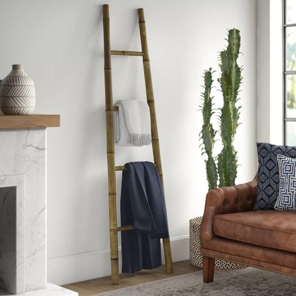 Mistana Bamboo Bath Towel 6 Ft Blanket Ladder