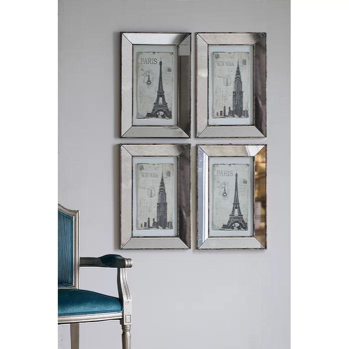 mirrored art wall décor
