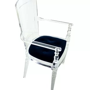 acrylic side chair with cushion graco blue owl high lucite wayfair juliette dining
