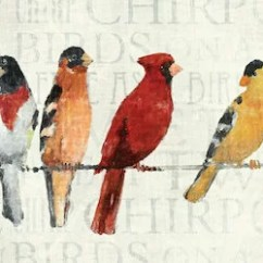 Large Canvas Art For Living Room Modern Walls Red Barrel Studio The Usual Suspects Birds On A Wire Wall ...
