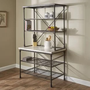 kitchen bakers rack herbs and spices modern contemporary french allmodern okanogan steel baker s