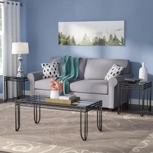 living room side table painting color ideas sofa and end sets wayfair myra 3 piece coffee set