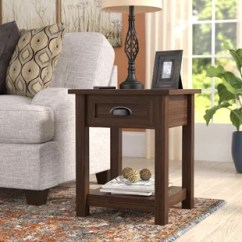 Living Room End Tables Decorator Brown Side You Ll Love Wayfair Quickview