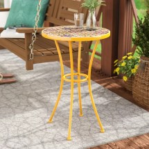 Bungalow Rose Chantel Outdoor Ceramic Tile Side Table