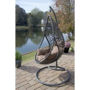 egg chair stand only bedroom reading with ottoman swinging wayfair san marino hanging swing