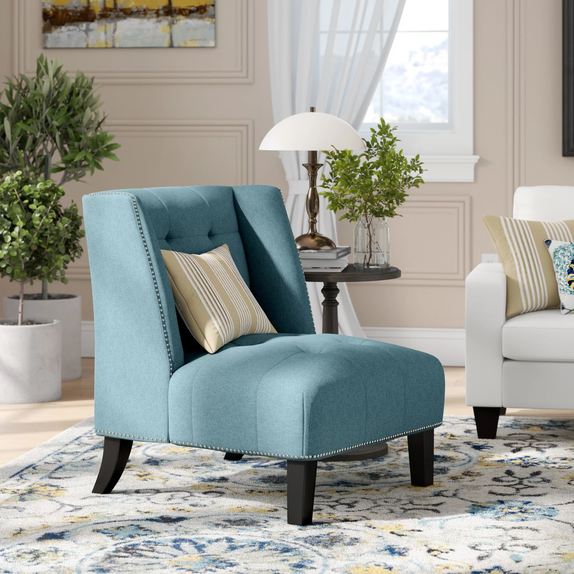 Teal Wingback Chair Friar Wingback Chair