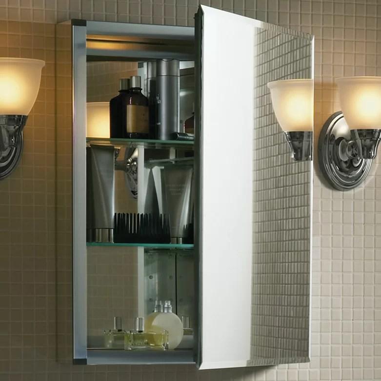 "Kohler 20"" x 26"" Aluminum Medicine Cabinet with Mirrored"