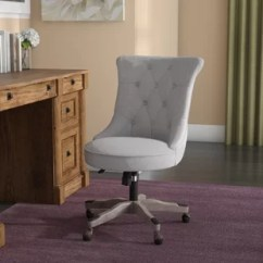 Tufted Desk Chair In Room Twill Wayfair Quickview