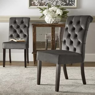 tufted dining room chairs big lots table and set wayfair quickview
