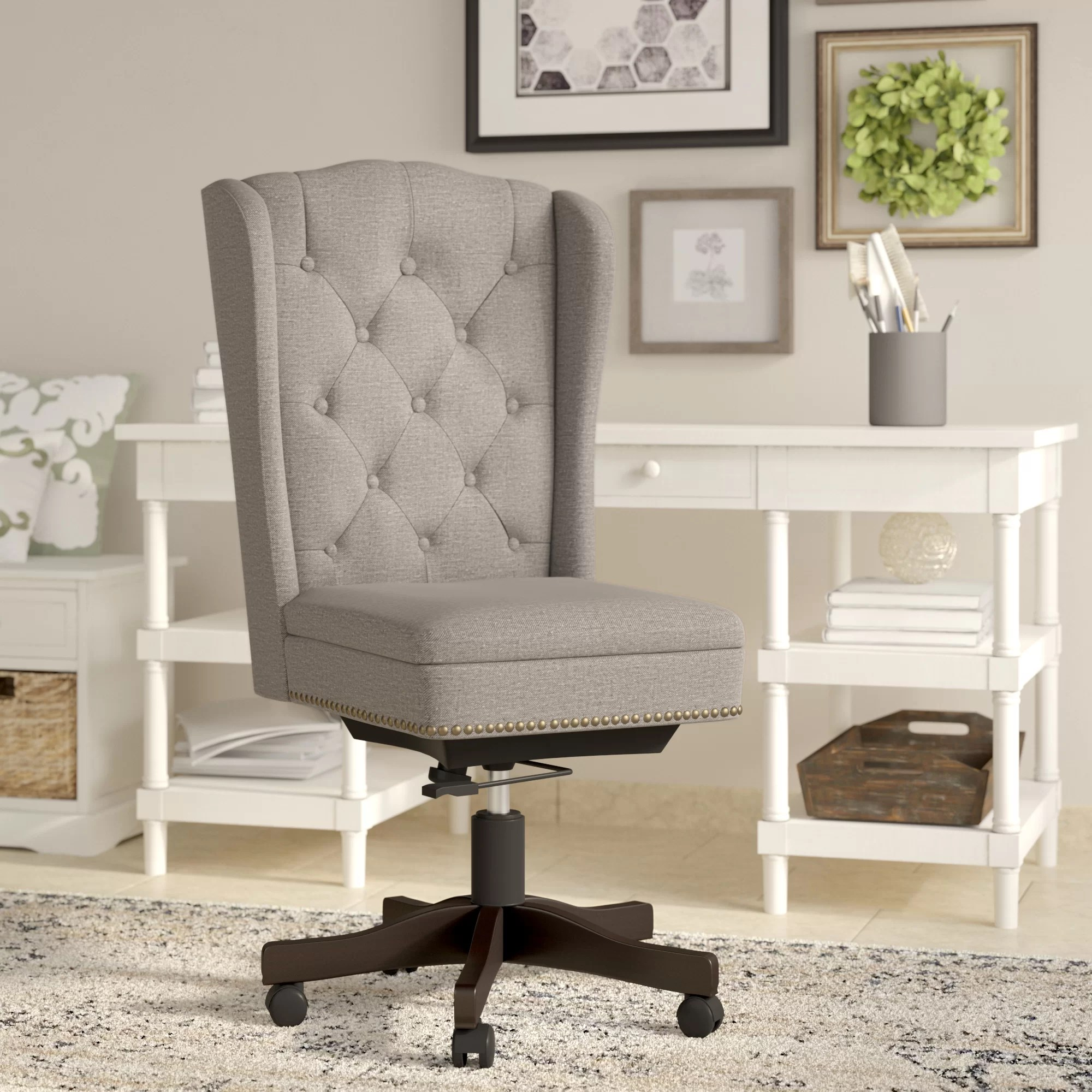 Linen Office Chair Vidalia Task Chair