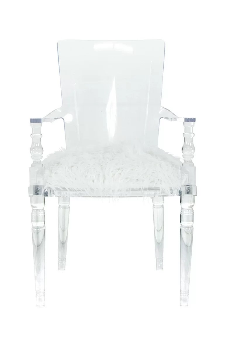 Lucite Chair Juliette Upholstered Dining Chair