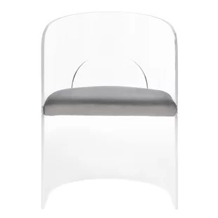 lucite acrylic chairs modern chair slipcovers contemporary clear allmodern slaugh accent upholstered dining