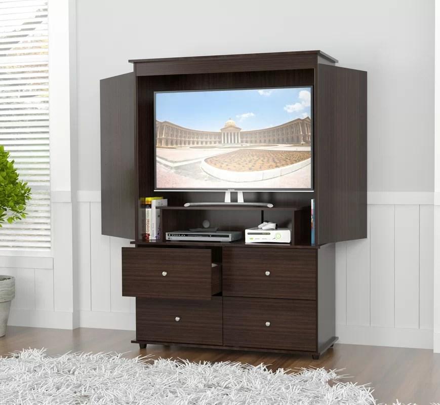 Brayden Studio Burditt TV Armoire Amp Reviews Wayfair