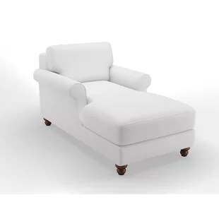 white chaise chair small table and chairs for garden oversized wayfair kirkley wellston lounge