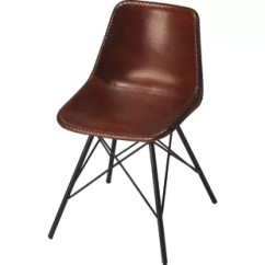Leather Kitchen Chairs Desk Chair With Wheels Genuine Dining You Ll Love Wayfair Hennessy Upholstered