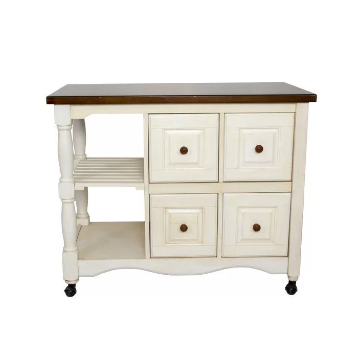kitchen cart with drawers trash compactor loon peak lockwood 4 drawer 2 shelf wayfair ca