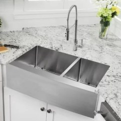 Drop In Farmhouse Kitchen Sinks Portable Islands With Seating Sink Combos You Ll Love Wayfair Ca Save